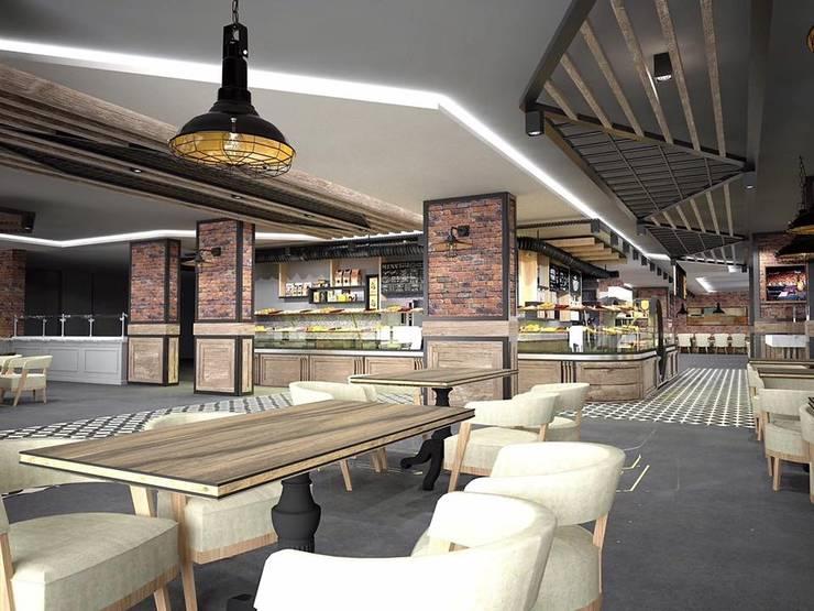 Murat Aksel Architecture – Sivas / amade restaurant cafe:  tarz Yemek Odası, Kırsal/Country Demir/Çelik