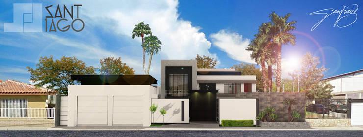 Facha Principal: Casas de estilo minimalista por SANT1AGO arquitectura y diseño