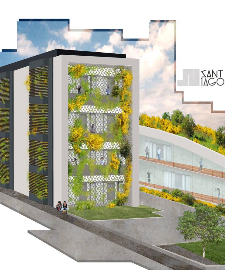 Edificio Publico: Estudios y oficinas de estilo  por SANT1AGO arquitectura y diseño