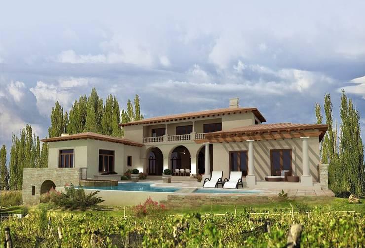 : Casas de estilo  por Azcona Vega Arquitectos