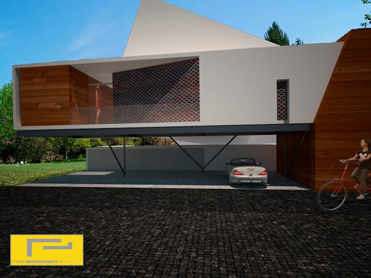 Casa Bosques: Casas de estilo  por reich_arquitectos