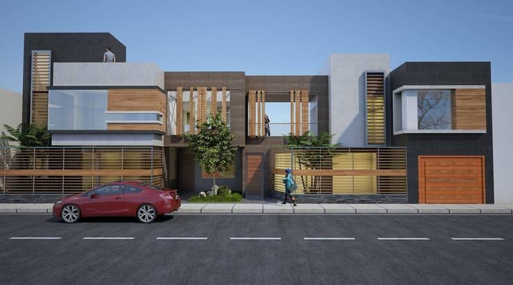 vivienda bifamiliar: Casas de estilo  por diseño integral y construcción sac