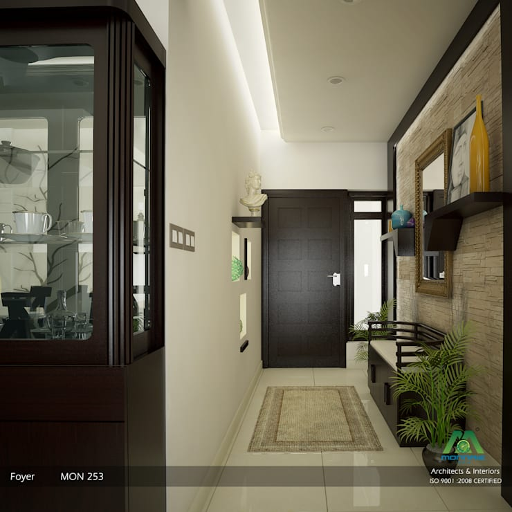 Corridor & hallway by Monnaie Architects & Interiors