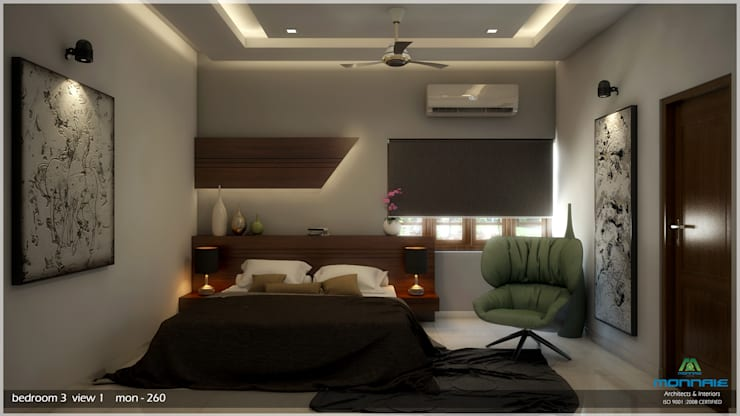 Bedroom by Monnaie Architects & Interiors