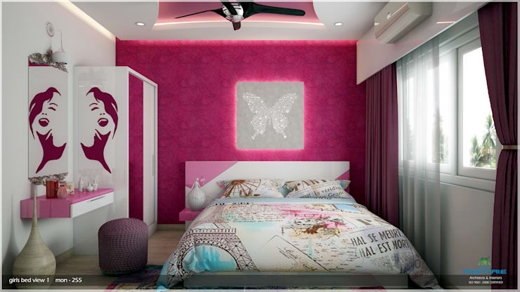 Interiors in Mixed Style… :  Bedroom by Premdas Krishna