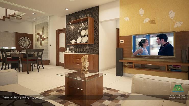 Modern Contemporary:  Living room by Premdas Krishna