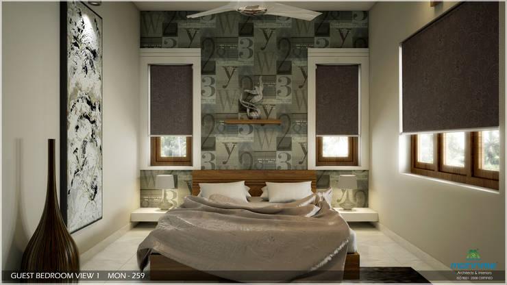 Dormitorios de estilo  por Premdas Krishna