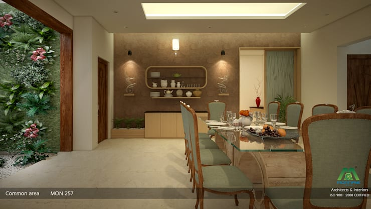 Interiors with Ultra Modern Designs: modern Dining room by Premdas Krishna