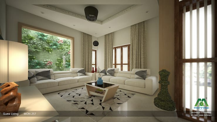 Interiors with Ultra Modern Designs:  Living room by Premdas Krishna