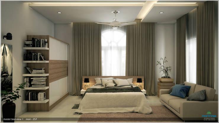 Dormitorios de estilo moderno por Premdas Krishna