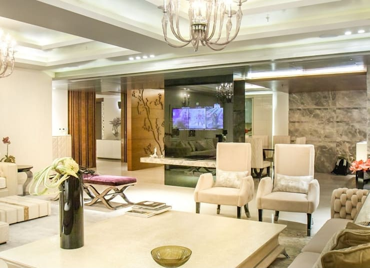 Magnolia Apartments : classic Living room by Vijay Kapur Designs
