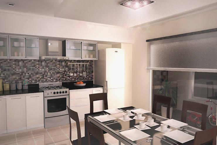 Cocina-Comedor diario: Cocinas de estilo  por G-R Arquitectura