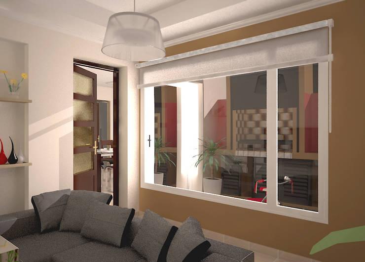 Reforma de vivienda unifamiliar en Pigüé: Jardines de invierno de estilo  por G-R Arquitectura
