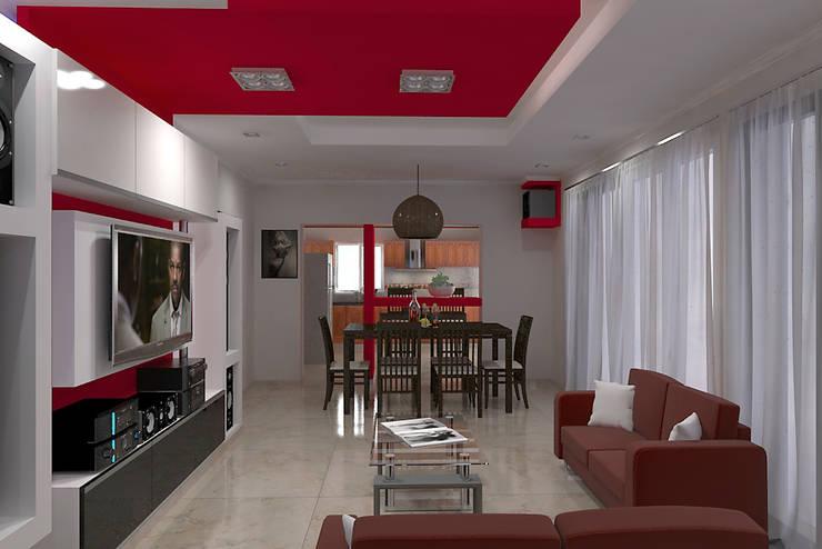 Diseño de Interior en Puán: Comedores de estilo  por G-R Arquitectura,