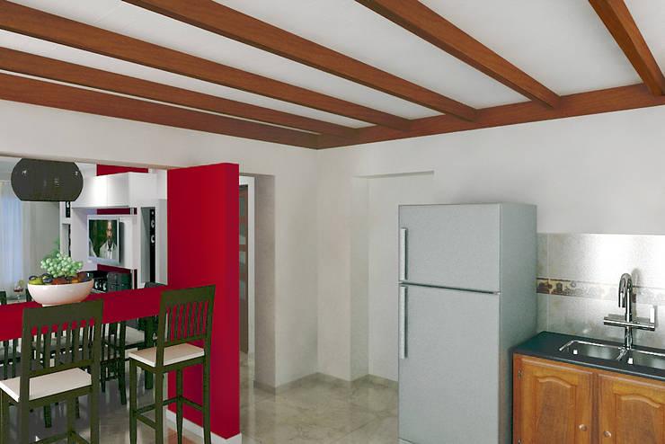 Diseño de Interior en Puán: Cocinas de estilo  por G-R Arquitectura,