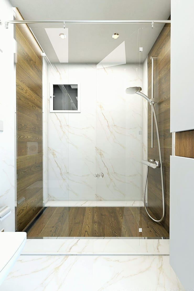 Bathroom by Murat Aksel Architecture, Modern Wood Wood effect