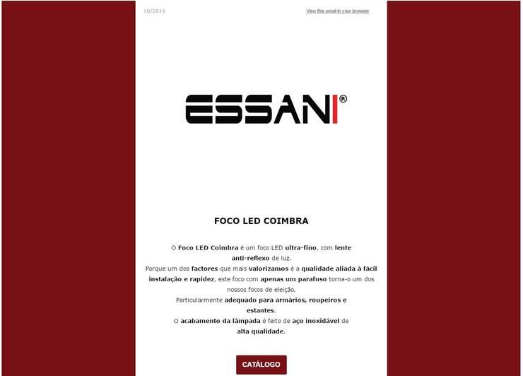 FOCO LED COIMBRA: Quarto  por ESSANI-Inovação Tecnológica