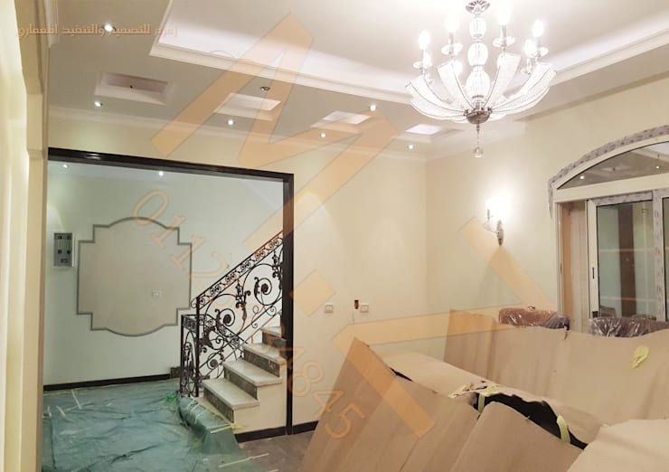 صاله علوية من شركة زمزم للتصميم و التفيذ المعماري كلاسيكي