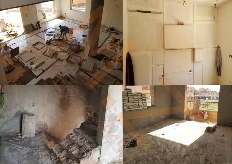 تشطيب فيلا K مدينتي -القاهرة : كلاسيكي  تنفيذ شركة زمزم للتصميم و التفيذ المعماري , كلاسيكي