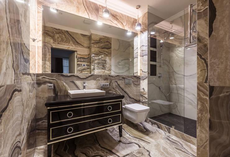 Сантехника, мебель и керамическая плитка в интерьере для ванной комнаты: Ванные комнаты в . Автор – U-Style design studio