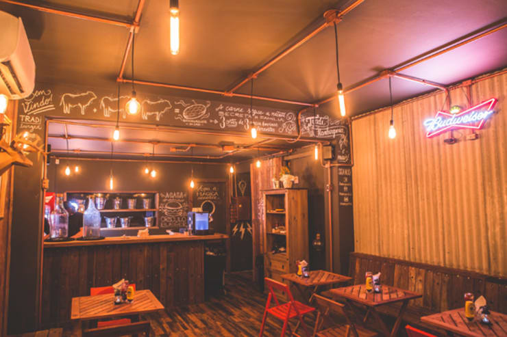 Gastronomy by KC ARQUITETURA urbanismo e design, Rustic