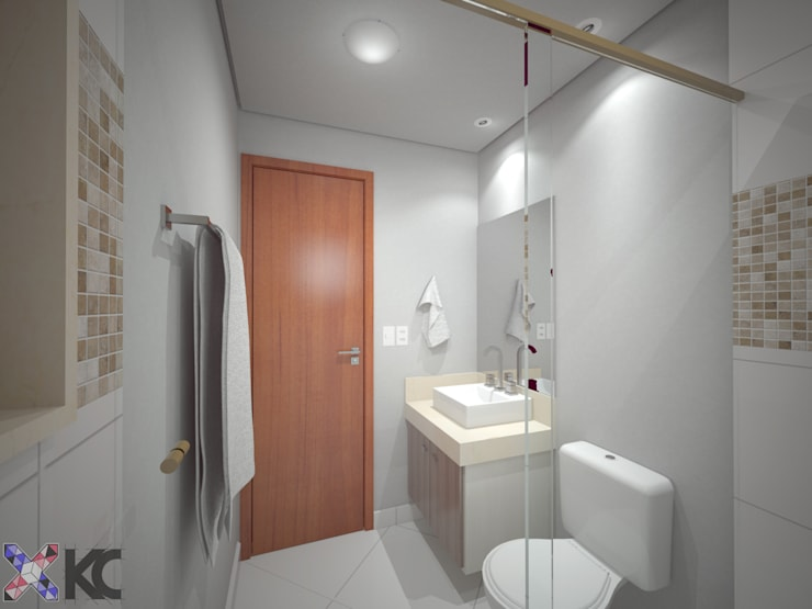 Baños de estilo  por KC ARQUITETURA urbanismo e design
