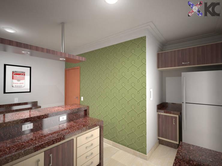 Apartamento VL: Cozinhas  por KC ARQUITETURA urbanismo e design