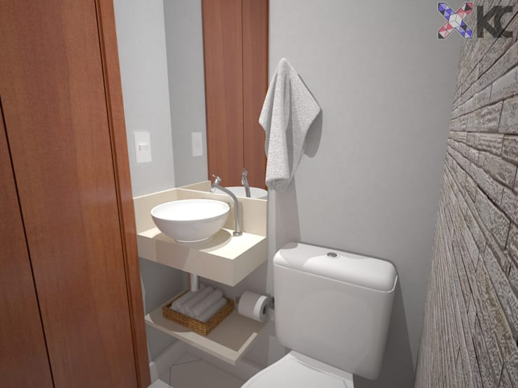 Bathroom by KC ARQUITETURA urbanismo e design