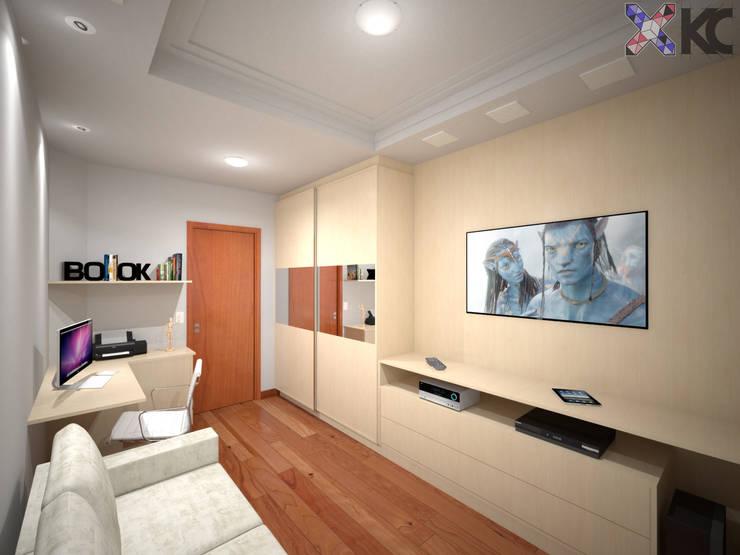 Salas de entretenimiento de estilo  por KC ARQUITETURA urbanismo e design