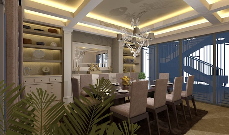 Dining room by Ain Designs Studio