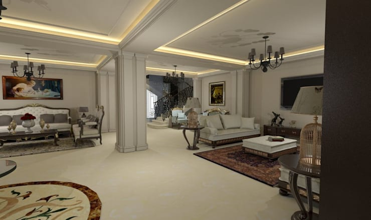 Living room by Ain Designs Studio
