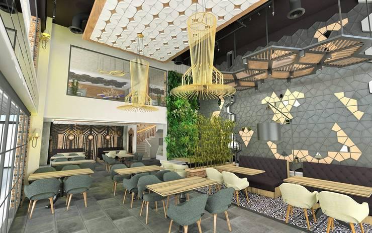 Murat Aksel Architecture – RESTORANT & CAFE:  tarz , Kırsal/Country Ahşap Ahşap rengi