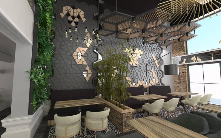 Murat Aksel Architecture – RESTORANT & CAFE: modern tarz , Modern Ahşap Ahşap rengi