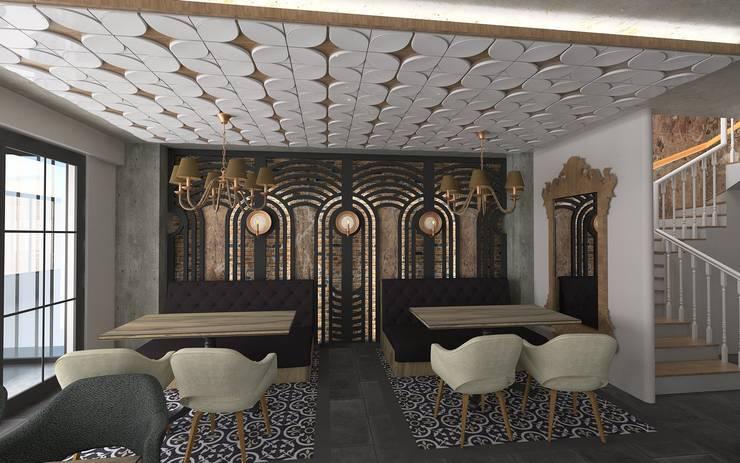 Murat Aksel Architecture – RESTORANT & CAFE: modern tarz , Modern Ahşap-Plastik Kompozit