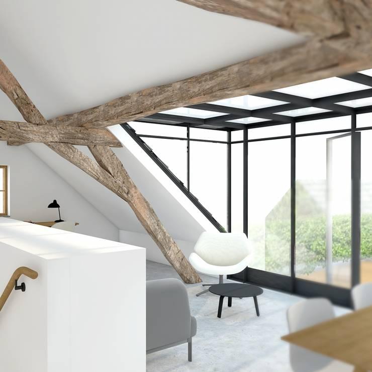 loft :  Serre door De Nieuwe Context, Modern Metaal