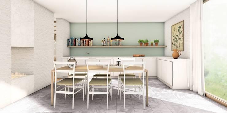 Keuken:  Keuken door De Nieuwe Context, Modern Marmer