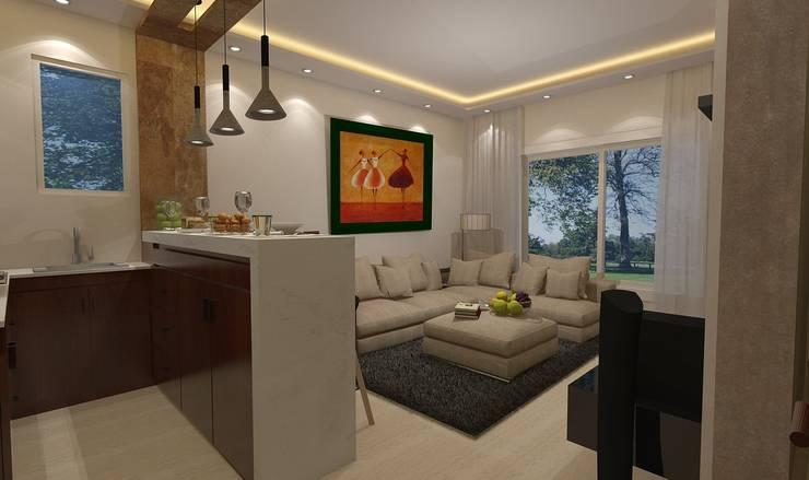 Ruang Keluarga by Ain Designs Studio