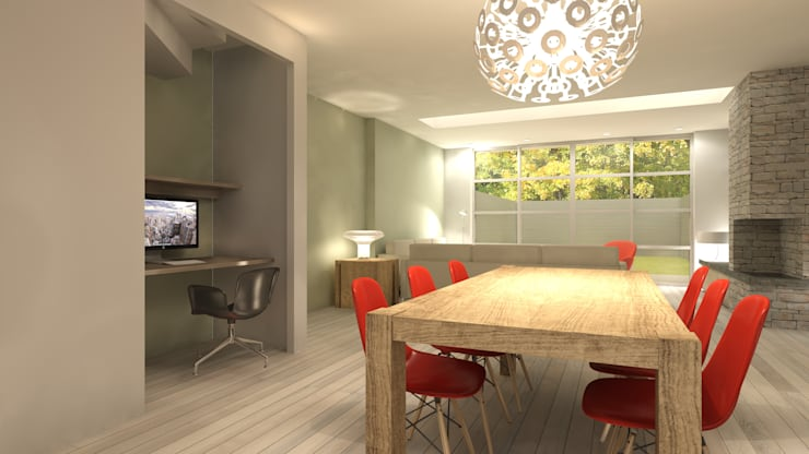 Ontwerp woonhuis Diemen:  Woonkamer door Studio DEEVIS, Modern