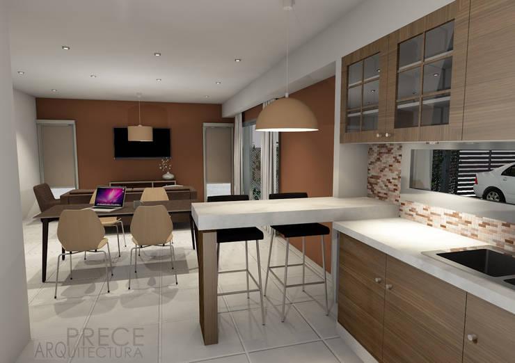 Cocina/Comedor:  de estilo  por Prece Arquitectura