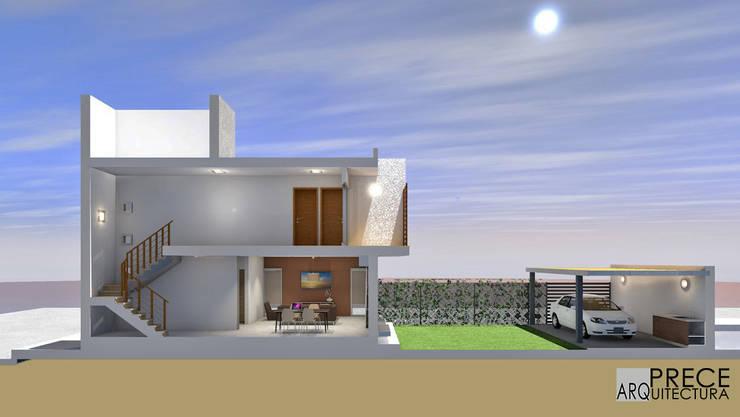 Sección longitudinal:  de estilo  por Prece Arquitectura