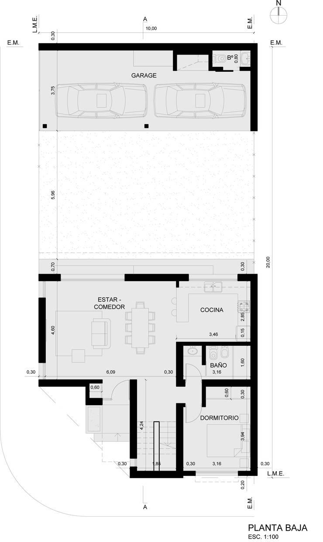 CASA ARA:  de estilo  por Prece Arquitectura
