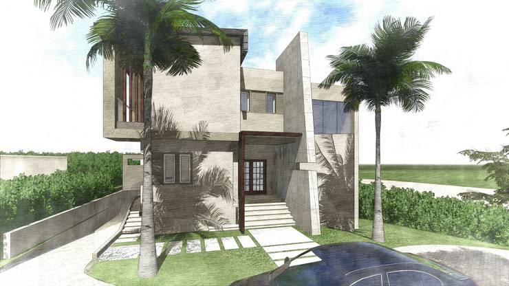 تصميم فيلا في الجيزة:  منازل تنفيذ Ain Designs Studio