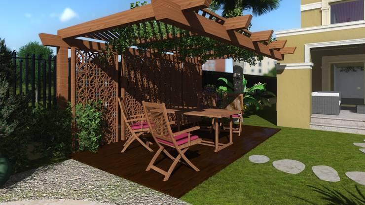 تصميم و تنفيذ مشروع حديقة فيلا في التجمع الخامس:  حديقة تنفيذ Ain Designs Studio