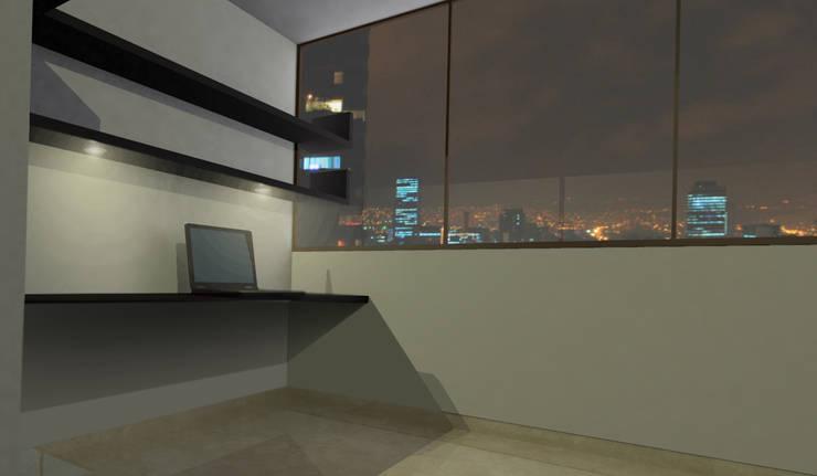 apartment 039: Estudios y despachos de estilo  por origini