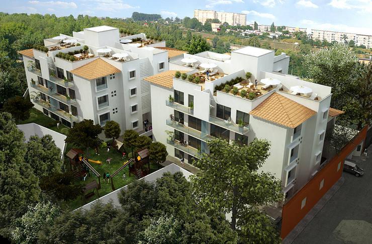 Departamentos Benito Juarez: Casas de estilo  por ByHand