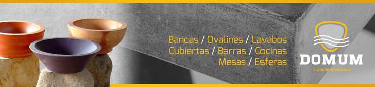 Bancas/ Ovalines/ Lavabos/ Cubiertas/ Cocinas/ Mesas / Esferas: Cocina de estilo  por Domum