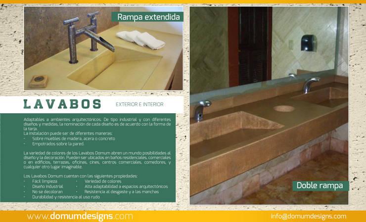 LAVABOS: Baños de estilo  por Domum