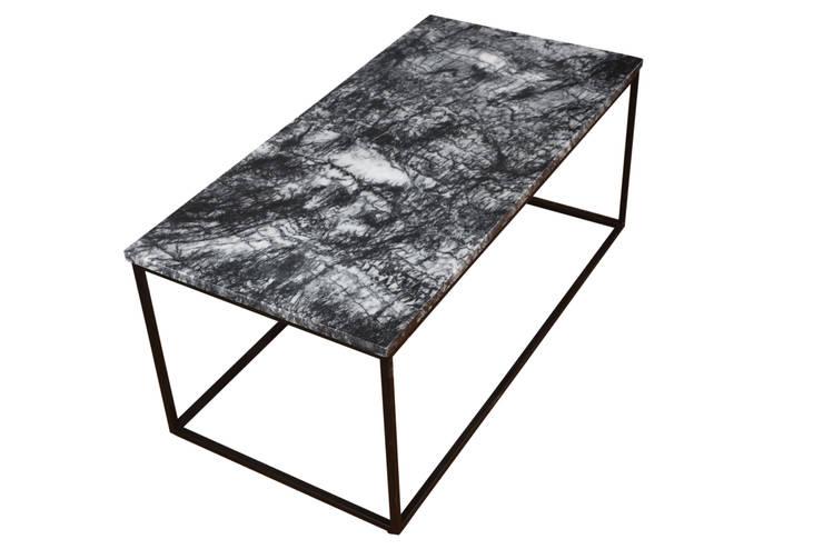 Kar Art Dekorasyon – Siyah Mermer Düz Metal Ayaklı Orta Sehpa 80*120cm:  tarz , İskandinav Mermer