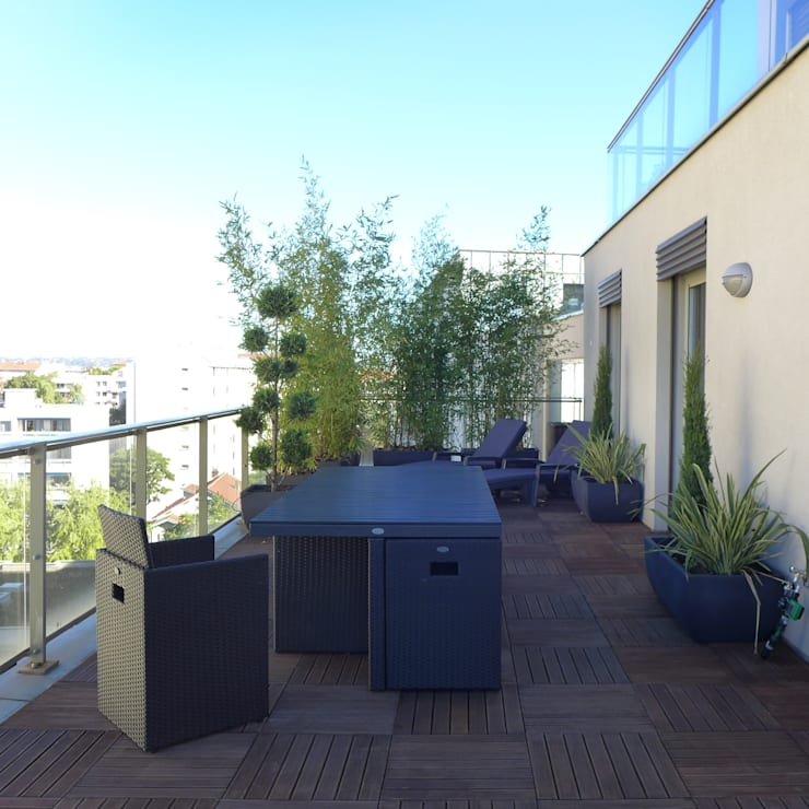 ANTHRACITE / Toit terrasse avec vue sur Lyon von Skéa Designer | homify