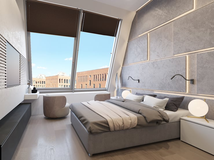 Projekty,  Sypialnia zaprojektowane przez Kerimov Architects